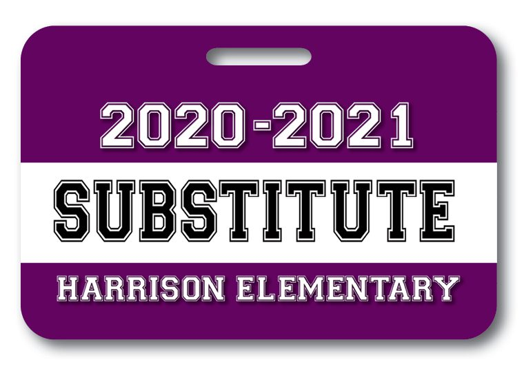 Substitute Teacher Badge