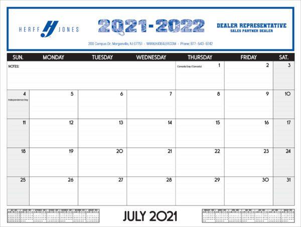 Herff Jones Desk Calendar